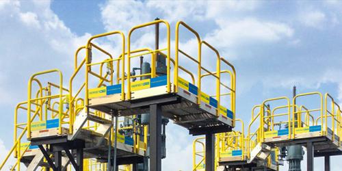 raised industrial work platform