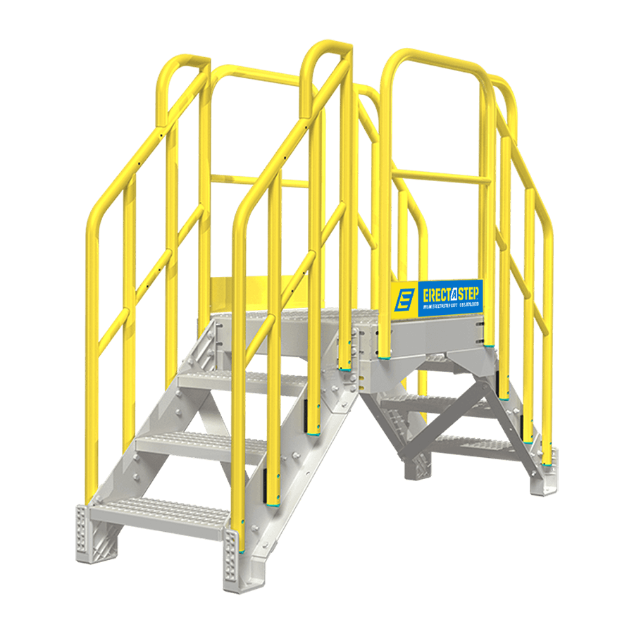 Industrial 3 Step Crossover Stairs