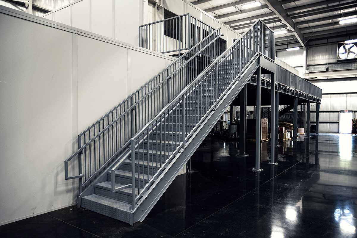 Prefabricated commercial stairs 12ft rollastep for Manufactured stairs