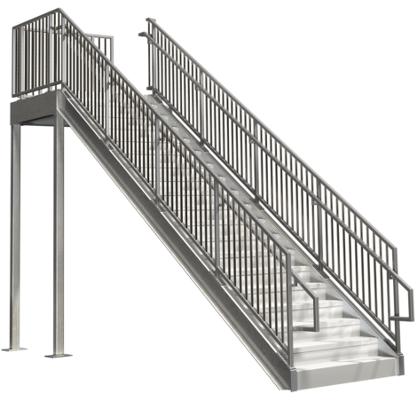 Prefabricated Commercial Stairs U2013 12ft