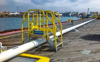 Marine Dock 2 step pipe crossover