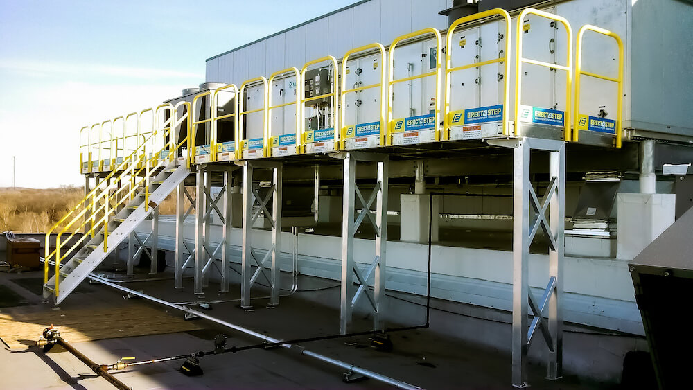 Elevated Work Platform for HVAC Access
