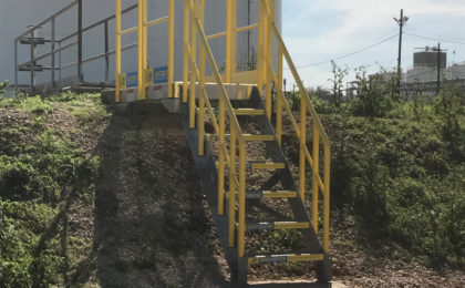 ErectaStep 7-Step Crossover stairs on hillside