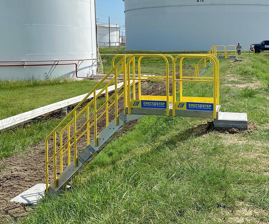 ErectaStep metal stair for chevron