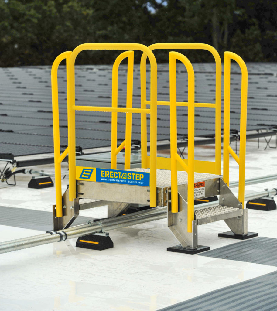 Solar Panel Rooftop ErectaStep Footbridge