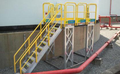 Erectastep 10-step to platform around tank