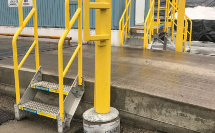 Erectastep industrial Stairs to Operator Building