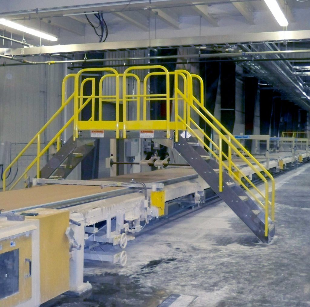 Industrial Metal Staircase Design: Erectastep Certainteed Crossover Stairs In Manufacturing
