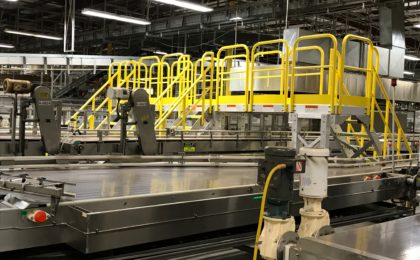 Erectastep crossover and access platform manufacturing plant