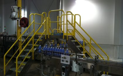 Erectastep industrial crossover stairs manufacturing line