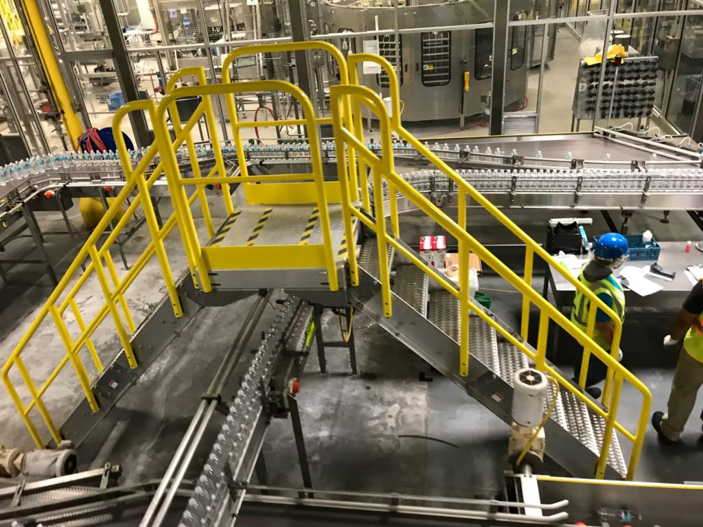 Erectastep crossover stairs bottling plant