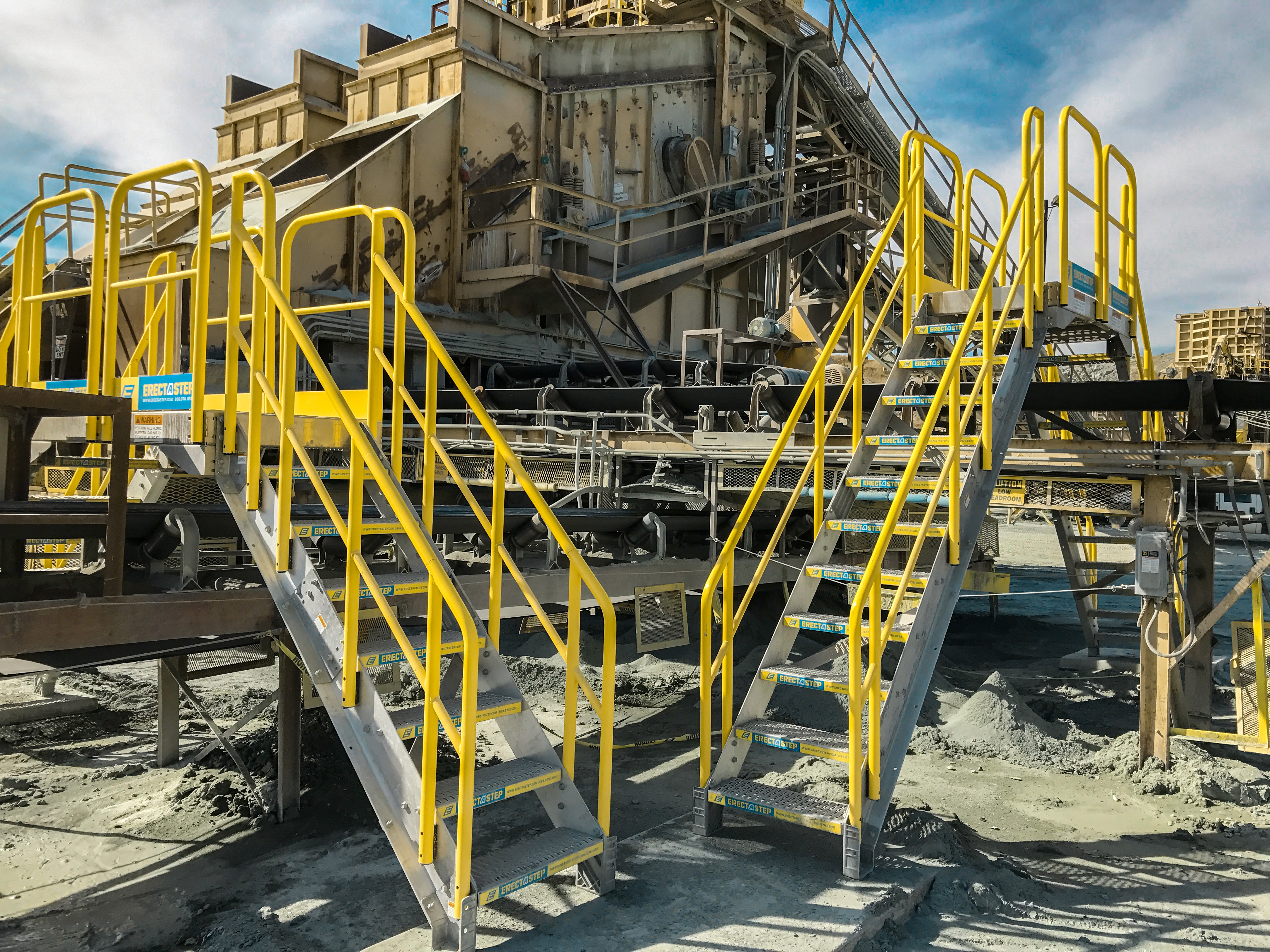 Industrial 7 Step Crossover Stairs Rollastep