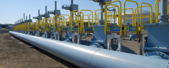 Erectastep multiple access platforms at Colonial Pipe facility