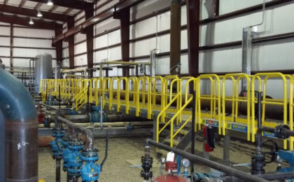 Erectastep industrial stairs access platform and walkway