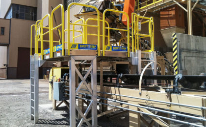Escalante Generating Station Erectastep access platform