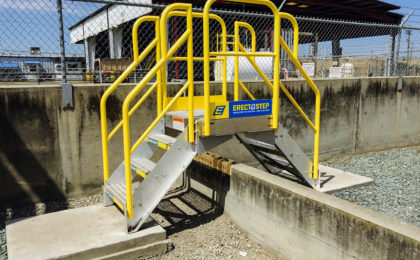Erectastep Cement Berm Crossover Stairs