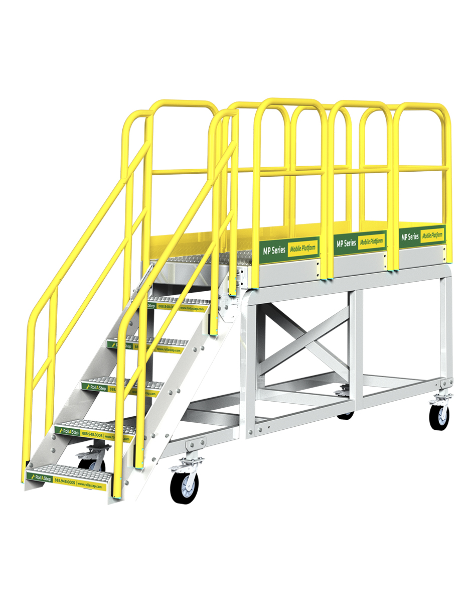erectastep mp series mobile work platform and rolling stairs