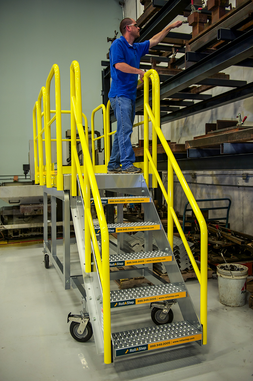 Prefabricated Metal Stairs, Aluminum Steps U0026 Work Platforms ...