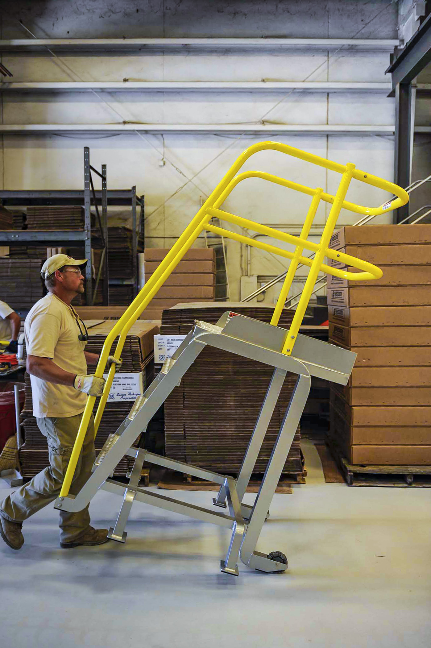 Prefabricated Metal Stairs Aluminum Steps Amp Work